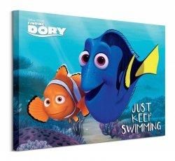Finding Dory (Just Keep Swimming) - Obraz na płótnie
