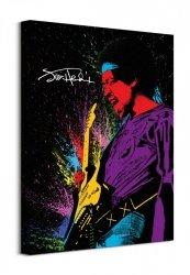 Jimi Hendrix (Paint) - Obraz na płótnie
