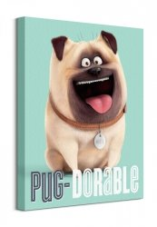 The Secret Life Of Pets (Pug-Dorable) - Obraz na płótnie