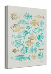 Fish Inklings - Obraz na płótnie