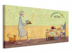 Breakfast In Bed For Doris - Obraz na płótnie