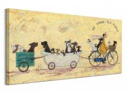 The Doggie Taxi Service - Obraz na płótnie
