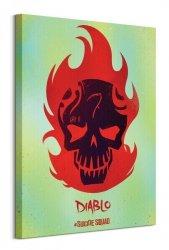 Suicide Squad (Diablo Skull) - Obraz na płótnie
