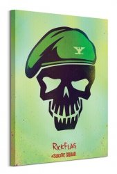 Suicide Squad (Rick Flag Skull) - Obraz na płótnie