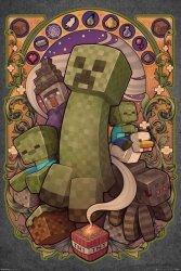 Minecraft Creeper Nouveau - plakat z gry