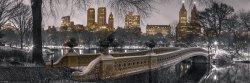 New York Bow Bridge Central Park - plakat