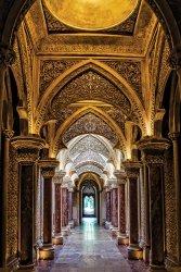 Portugalia Pałac Narodowy Sintra - plakat
