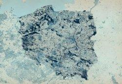 Fototapeta - Mapa Polski - W kolorach