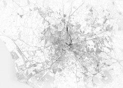 Fototapeta na ścianę - Rzym - Mapa czarno biała