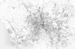 Fototapeta - Rzym - Mapa czarno-biała