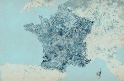 Fototapeta - Francja - Kolorowa Mapa