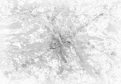 Fototapeta - Mapa - Warszawa