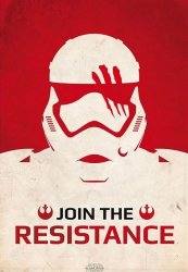 Star Wars Szturmowiec Join The Resistence - plakat