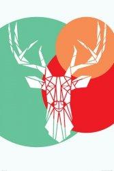 Deer white - plakat maxi