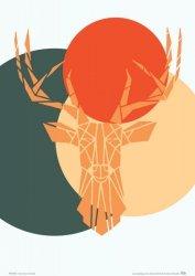 Deer colour - plakat  A4