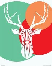 Deer white - plakat