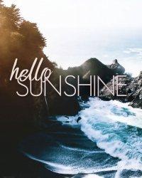 Hello sunshine - plakat