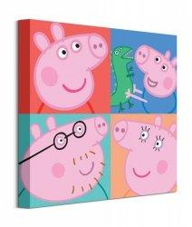 Peppa Pig Squares - obraz na płótnie