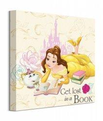 Beauty And The Beast Lost In A Book - obraz na płótnie