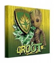 Guardians Of The Galaxy Vol. 2 Groot Sheild - obraz na płótnie