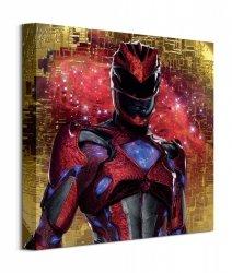 Power Rangers Movie Red Ranger Pose - obraz na płótnie