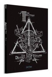 Harry Potter Deathly Hallows - obraz na płótnie