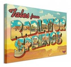 Cars Radiator Springs - obraz na płótnie