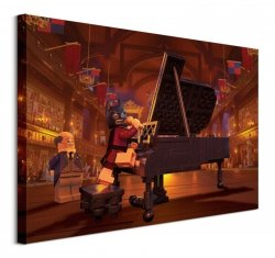 Lego Batman (Piano)  - obraz na płótnie