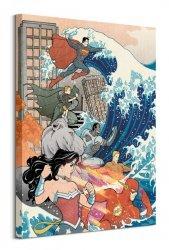 Wonder Woman (Justice League Great Wave)  - obraz na płótnie