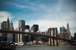 Fototapeta ścienna - Nowy Jork, Brooklyn Bridge - 175x115 cm
