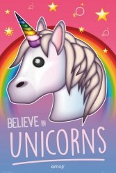Emoji Believe in Unicorns - plakat