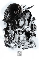 Star Wars 40th Anniversary - plakat filmowy