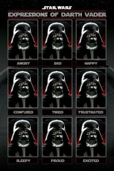 Star Wars Expressions of Darth Vader - plakat