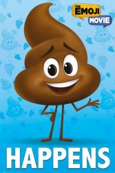 The Emoji Movie Poop Happens - plakat filmowy