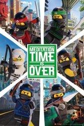 LEGO® Ninjago Movie Six Ninjas - plakat z bajki