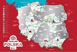Plakat - Mapa zdrapka - Polska - 60x40 cm
