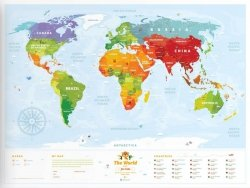 Mapa interaktywna - Kids Sights - 80x60 cm