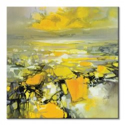 Obraz do salonu - Yellow Matter 2 - 85x85 cm