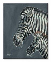 Obraz na ścianę - Z is for Zebra - 40x50 cm