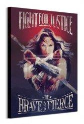 Obraz na płótnie - Wonder Woman Fight For Justice - 60x80 cm