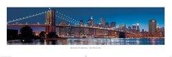 New York (Brooklyn bridge) - plakat