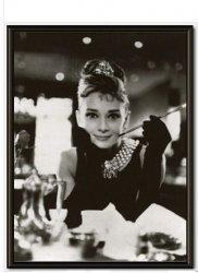 Audrey Hepburn Breakfast at Tiffanys - obraz w ramie