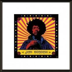 Jimi Hendrix Psychedelic - obraz w ramie