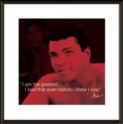 Muhammad Ali I.Quote - obraz w ramie