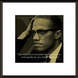 Malcolm X I.Quote - obraz w ramie