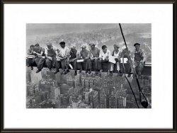 Robotnicy na belce - obraz w ramie