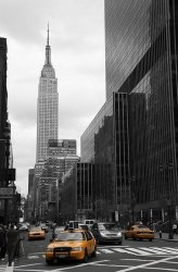 Fototapeta na ścianę - Yellow taxis on 35th street - 115x175 cm