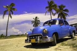 Fototapeta do pokoju - Kuba, limuzyna I - 175x115 cm