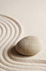 Fototapeta na ścianę - Kamień na piasku - 115x175 cm