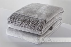 Koc - 150x200 cm - Kolor srebrny